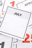 Tom kalender — Stockfoto