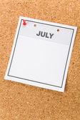 Calendario en blanco — Foto de Stock