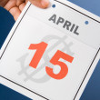 Calendar Tax Day — Stock Photo #35360969