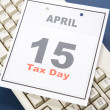 Calendar Tax Day — Stock Photo