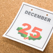 Calendar Day Christmas — Stock Photo