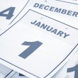 Stock Photo: Calendar New Year's Day