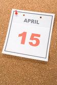 Calendar Tax Day — Stock Photo