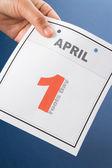 Calendar Fools' Day — Stock Photo