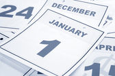 Calendar New Year's Day — Stock Photo
