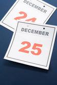 Calendar Day Christmas — Stock Photo