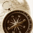 Compass and Globe — Stock Photo