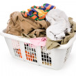 Laundry basket and dirty clothing — Stock Photo #35689145