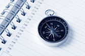 Calendar agenda and compass — Stock Photo