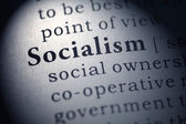 Fake Dictionary, Dictionary definition of the word socialism. — Stock Photo