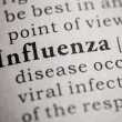 Flu and influenza — Stock Photo