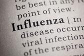 Flu and influenza — Stock Photo