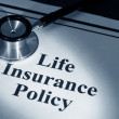 Stock Photo: Life insurance policy