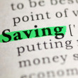 Stock Photo: Saving