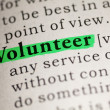 Stock Photo: Volunteer