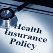 Health Insurance Policy — Stock Photo