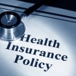 Foto de Stock  : Health Insurance Policy
