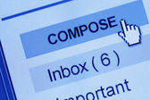 Email compose — Stock Photo
