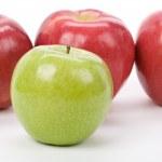 Green Apple red apple — Stock Photo