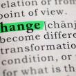 Stock Photo: Change