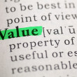 Stock Photo: Value