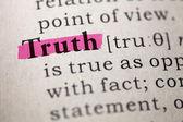 Truth — Stock Photo