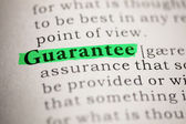 Guarantee — Stock Photo