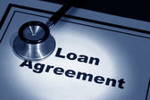 Loan Agreement — Stock Photo