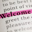 Welcome — Stock Photo #40927461