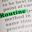 Stock Photo: Routine