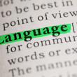 Stock Photo: Language