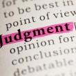 Judgment — Stock Photo