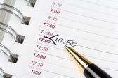Calendar agenda — Stock Photo