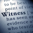 Witness — Stock Photo #41582667