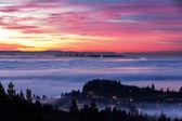 Sunrise and morning glow — Stock Photo