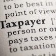 Foto de Stock  : Taxpayer