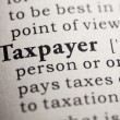 Taxpayer — Stock Photo