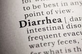 Fake Dictionary, Dictionary definition of the word diarrhea. — Stock Photo
