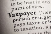 Taxpayer — Stockfoto