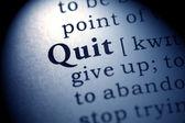 Quit — Stockfoto