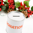 Stock Photo: Christmas donation