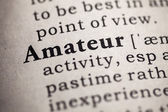 Fake Dictionary, definition of the word amateur. — Stock Photo
