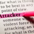 Stock Photo: Attacker