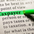 Stock Photo: Taxpayer