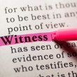 Stock Photo: Witness