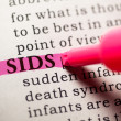Stock Photo: SIDS
