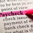 Stock Photo: Paycheck