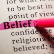 Stock Photo: Belief