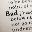 Stock Photo: Word of bad