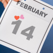 Stock Photo: Calendar Valentine's Day
